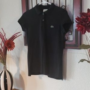 Black Women's Lacoste Polo